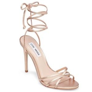 Steve Madden   Gold Clarissa Wrap Heel Sandal   8